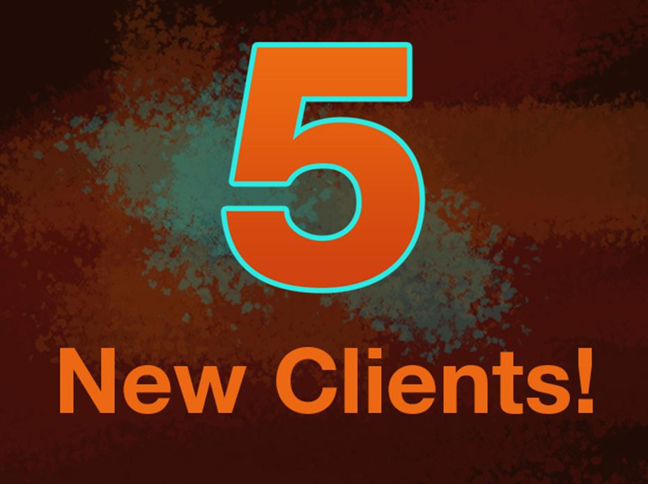 5 new clients Aux 2020