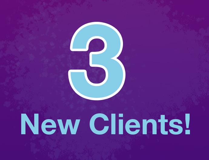 3 new clients Q32020