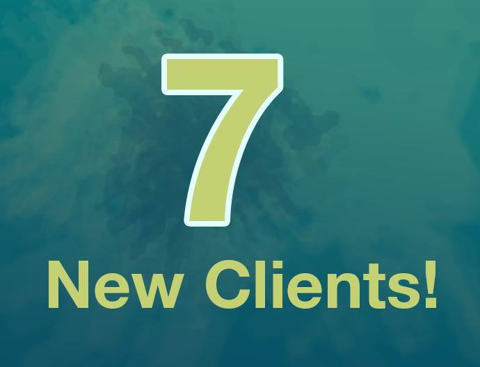 Aux 7 new clients Q42020